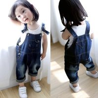 bib overalls for boys - New Spring And Autumn Children s Overalls For Girls And Boys Denim Pocket Jumpsuit Bib Pants Kids Jeans Baby Girls Overall