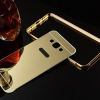 aluminium electroplating - Luxury Acrylic Metal Mirror Aluminium Electroplate Palting Metal Bumper Back Cover Case For Xiaomi S C Redmi Note Note mm0418