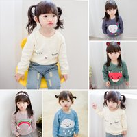 baby goods sale - Hot sale Good quality colors baby girl Girls T shirts fashion Tops Tees hoodies kids boys girls autumn fall new