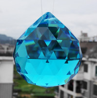 aquamarine sphere - AAA Quality mm K9 Aquamarine Colour Crystal Faceted Ball Spheres Chandelier Replacement Garland Pendants