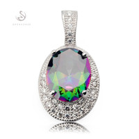 american reviews - Copper Rhodium Plated Recommend Pendants Rainbow Fire Mystic Cubic Zirconia Noble Generous MN3246 Rave reviews Best Sellers The new product
