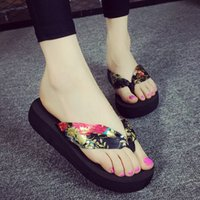 Wholesale New Simple fashion Flat shoes woman slippers flip flops beach shoes Outdoor shoes Board Shoes size US5