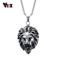 lion charms - Newest Men s Lion Design Rock Pendants Necklaces Fashion Stainless Steel Punk Pendant for Men Charm Jewelry Chain