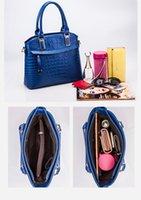 Wholesale New Arrivals Fashion Crocdile Pattern Women Handbags Detachable Shoulder Strap Red Blue Black For Versatile