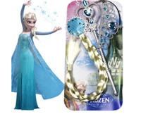 fuentes de la fiesta de Navidad congelados headwear 3 PC fijaron Elsa Anna corona del Rhinestone de la varita mágica palos pelucas trenza espiral lo más regalos saco Bolsas