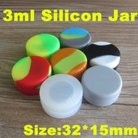 Wholesale 32mm ml Wax Silicone Container Jars Dab Box Non Stick Silicone Oil Kitchen Container Jar Storage Container For dab wax oil bho concentrate