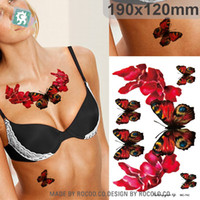 beautiful butterfly tattoos - sexy Beautiful waterproof temporary tattoos for men and women D butterfly design large arm tattoo sticker MC2742