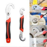 Wholesale 2Pcs Multi function Adjustable stainless Quick Grip Wrench Spanner Set