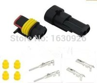 amp connector pins - sets Kit Pin Way AMP Super seal Waterproof Electrical Wire Connector Plug