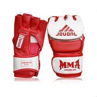 Protective Gear advanced mma - White Red MMA Advanced PU Man Thai Sanda Gloves Boxing Gloves Training Accessories