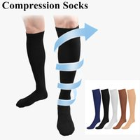 Wholesale Unisex Long Compression Socks Sports Socks Blood Circulation Socks Running Knee High Socks Color Slimming Socks
