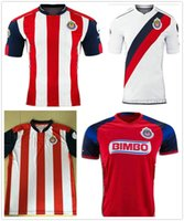 Wholesale 2016 new Mexico s Club Soccer Jersey Chivas Guadalajara camisetas de futbol New Red white O BRAVO REYNA DE NIGRIS ARCE football Shirts