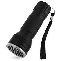 Wholesale High Quality UV Ultra Violet Blacklight LED Flashlight Torch Lamp Light Support AAA Batteries Money Detector