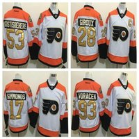 Wholesale 50th Anniversary Philadelphia Flyers Hockey Jerseys Claude Giroux Voracek Simmonds Shayne Gostisbehere Winter Classic Jerseys