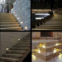 aluminium stairs - Super bright W Aluminium LED Wall Corner Light IP65 Waterproof led footlight stair lights Square outdoor step path lights