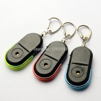 Wholesale 500pcs Keyfinder Sound Control Whistle Locator Key Finder With Keychain With Switch Control