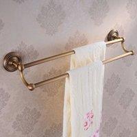 antique bar ware - Brass Antique Bronze Double Towel Bar Bathroom Accessories bath towel holder sanitary ware HJ F