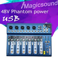 audio sound mixers - High Quality F7 F7 USB Audio Mixer Console with USB Channel Mixer Sound Console DJ Equipment V Phantom Power Supply