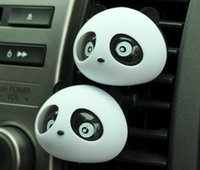 Wholesale 2PCS Panda Cute Dashboard Air Freshener Perfume Diffuser Refresh Car Motor Home