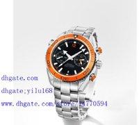 bezel chrono watch - Men s Luxury Planet Ocean Chrono Auto Orange Bezel Swis Quartz Mens Watch Stainless Sport Men s WristWathes Chronograph Mens Watch Men