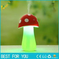 Wholesale Mini Mushroom Lamp Humidifier Aroma V USB LED Air Purifier Atomizer Diffuser Home Room Essential Oil Electric Car Aroma Diffuser