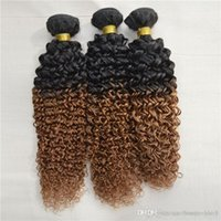 baby curl hair extensions - Ali Baby Liss Hair Two Tone Natural Human Extension remi Braiding Weft Curl Weaving Pieces Ombre Nature Brazilian Curly Bundle