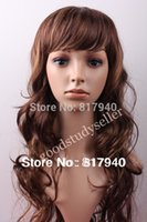 Wholesale HOT SALE High quality Realistic Plastic female mannequin dummy head with hair for hat amp sunglass amp jewelry amp mask display