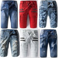 american boardshorts - 2016 New Arrivals Mens Balmain Shorts Elastic Short Jeans Denim Designer Biker Pants Casual Boardshorts size