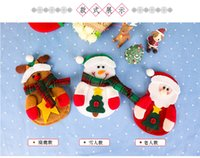 Wholesale New Christmas Tableware Decorations Snowman Silverware Holders Knife And Fork Bags Christmas Decorations Festive Party Supplies