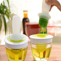 barbecued pig - New kitchen oil bottle with silicone Honey olive Oil brush for barbecue baking cooking tools Kitchen Accessories
