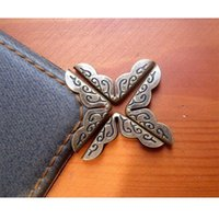 aluminum album - 2016 Shipping Antique Bronze Small Book Scrapbooking Albums Menus Folders Collar Corner Protectors