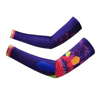 Wholesale High Quality Bike Cycling Outdoor Arm Warmers Sunscreen Sport Sleeves Cycling Gear Arm Sleeves Cycling Gloves YS0090 smileseller