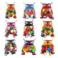 Wholesale 2016 New Arrival Children School Bag Chinese National Characteristics Owl Backpack Kids Girls Boys Outdoor Picnic Bags Perfect Gift DCBF294
