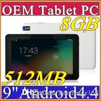 2016 bon marché 9 pouces Quad Core appareil photo Android 4.4 Tablette PC 512 Mo 8 Go 1.5GHz Allwinner A33 Bluetooth B-9PB