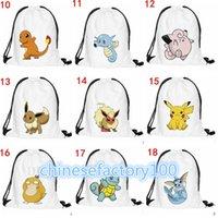 baggu backpack - DHL Poke Emoji Drawstring Backpack Pocket Shopping Bag Fashion Monster Storage Bag Poke Pikachu Organizer Baggu Poke Ball Gifts Sack Bags