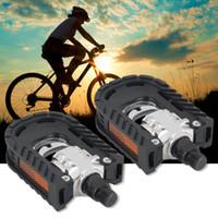2PCS ultralégère alliage d'aluminium universel vélo de montagne vélo VTT pédales pédales de pliage antidérapant accessoires vélo pièces