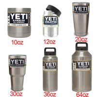 aluminum insulation - 2016 kylie yeti cups Bilayer Stainless Steel Insulation Cup oz oz Cups Cars Beer Mug Large Capacity Mug Tumblerful