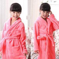 Wholesale 150 cm to years old long thickening warm pick code filial children adult robe Flannel children s bathrobe