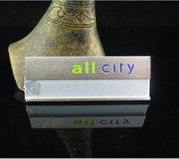 aluminium name badges - X2 cm staff badge aluminium alloy reusable name tag ID badge pin brooch UV print