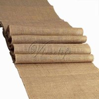 Wholesale One New Rustic Burlap Hessian Table Runner Natural Jute Vintage Wedding Party Decorations Supply