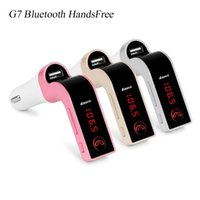 Wholesale S7 G7 Car Bluetooth HandsFree FM Modulator Wireless Bluetooth Car MP3 Player FM Transmitter With V A USB Car Charger OTH307