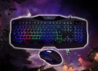 Wholesale Rii RM400 LED Gaming Keyboard Mouse Combo Bundle Color Backlit DPI gaming mouse with preset levels