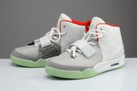 Wholesale with box Black and white air kanye west Y II sneaker althetic shoes lighted bottom Trainers shoes Basketball shoes