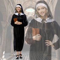 adult nun costume - Halloween Costumes For Women Ladies Adult Nun Church of the Virgin Mary Dress Womens Adults Vampire Party Fancy Costume Outfit S6604