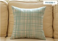 Wholesale 8 colors High quality decorative square vintage geometric cotton linen pillow case for office or sofa