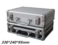 Wholesale Tactical box aluminium tool case MM magic props file storage Hard carry tool box Hand Gun Locking Pistol