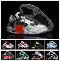 beach bowl - Discount Retro IV Basketball Shoes Training shoes s Men Basketball Shoes Toro Red South Beach Green Glow Black White Cement