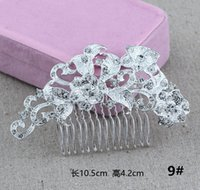 Wholesale 2016 hot DHL Bridal jewelry studio wedding headdress fashion diamond plug explosion combed alloy alloy pearl comb DHL