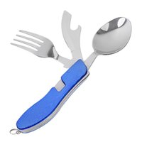 Wholesale Outdoor Folding Tableware Knife Fork and Spoon in Split Cutlery Portable Camping Travel Multitool L042