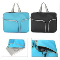 apple macbook carrying case - Black Blue Laptop Notebook Sleeve Carry Bag Protective Case Pouch For Apple MacBook Air Pro